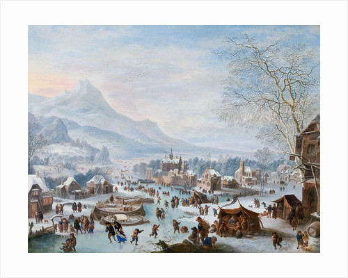 Winter Scene with Skaters by Jan Griffier