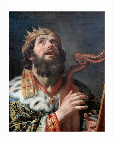 King David Playing the Harp by Gerrit van Honthorst