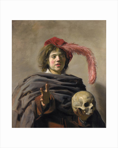 Young Man holding a Skull (Vanitas) by Frans Hals I