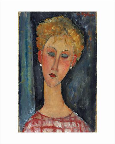 La blonde aux boucles d'oreille by Amedeo Modigliani