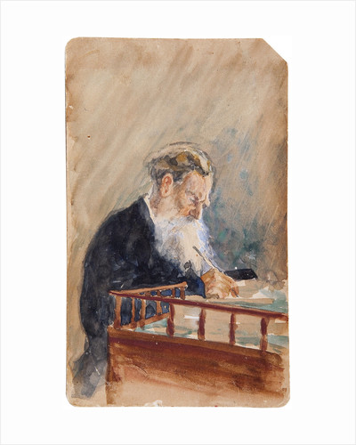 Portrait of the author Leo N. Tolstoy by Ilya Yefimovich Repin
