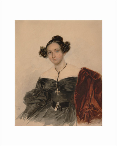 Portrait of Countess Nadezhda Ivanovna Golitsyna, née Countess Kutaysova, 1832 by Pyotr Fyodorovich Sokolov