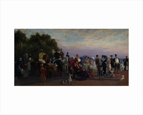 On the spit of Island (Strelka), 1870s by Konstantin Apollonovich Savitsky