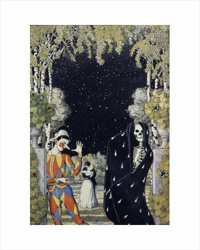 Harlequin and Death, 1907 by Konstantin Andreyevich Somov