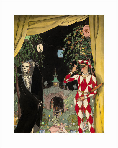 Harlequin and Death, 1918 by Konstantin Andreyevich Somov