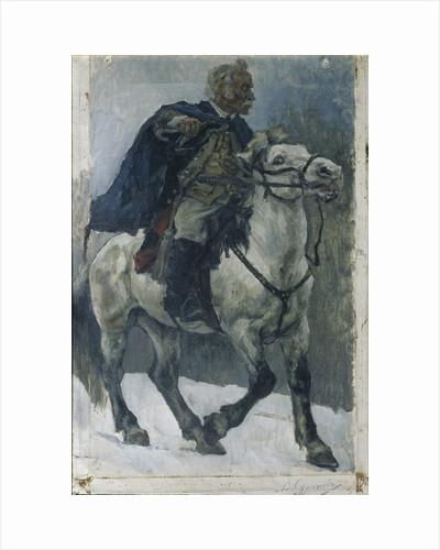 Alexander Suvorov on horseback, 1897-1898 by Vasili Ivanovich Surikov