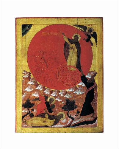 The Prophet Elijah and the Fiery Chariot, 1570s by Russian icon