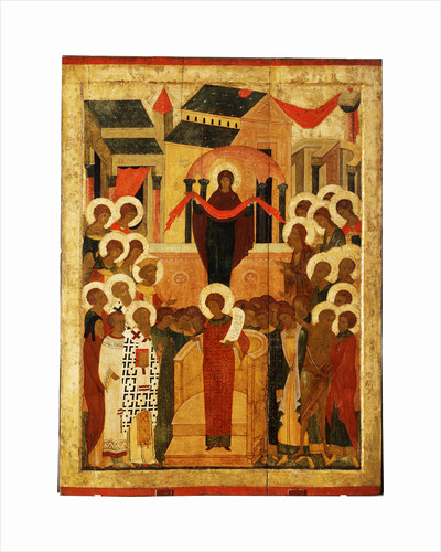 The Protection of the Mother of God (Pokrov), Second Half of the 15th cen by Russian icon