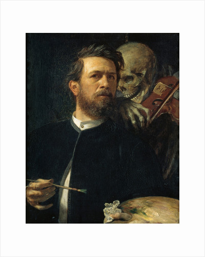 Self-portrait with Death Playing the Fiddle, 1872 by Arnold Böcklin