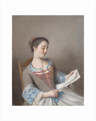 A girl reading (La liseuse), 1746 by Jean-Étienne Liotard