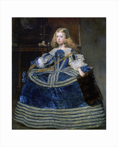 Infanta Margarita Teresa (1651-1673) in a Blue Dress by Diego Velazquez