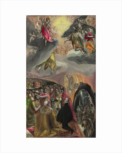 The Adoration of the Name of Jesus, 1570s by Dominico El Greco