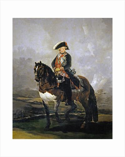 Equestrian Portrait of Charles IV of Spain by Francisco Goya