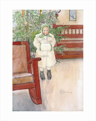 Girl and rocking chair by Carl Larsson