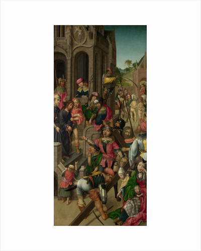 Christ presented to the People (Triptych: Scenes from the Passion of Christ, left panel), c. 1510 by Master of Delft