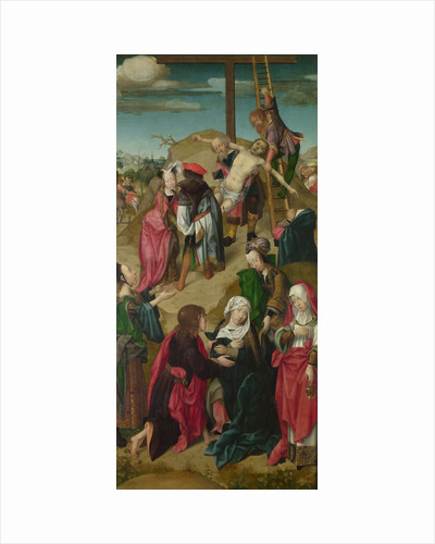 The Deposition (Triptych: Scenes from the Passion of Christ, right panel), c. 1510 by Master of Delft