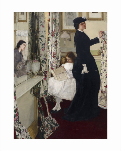 Harmony in Green and Rose: The Music Room by James Abbott McNeill Whistler