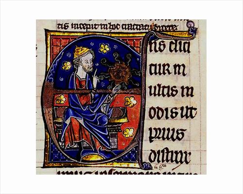 Aristotle. From: Commentarium magnum Averrois in Aristotelis De Anima libros by Anonymous