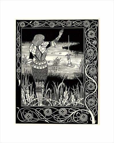 Arthur Learns of the Sword Excalibur. Illustration to the book Le Morte dArthur by Sir Thomas Mal by Aubrey Beardsley
