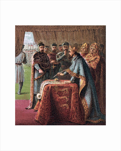 King John of England signs the Magna Carta by Joseph Martin Kronheim