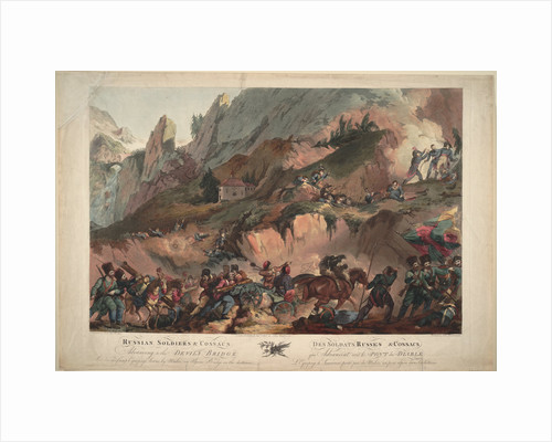 Russian Army Crossing the Devils Bridge in 1799, 1804 by Robert Carr Porter