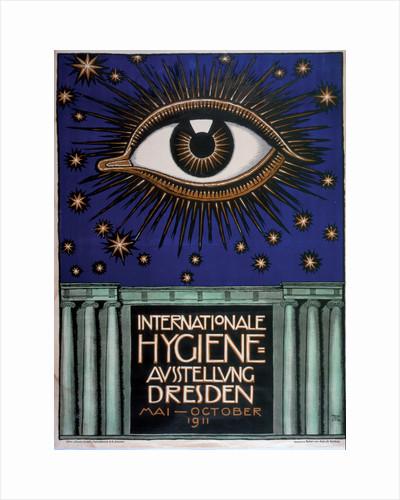 Poster for the 1911 First International Hygiene Exhibition, 1911 by Franz Ritter von Stuck