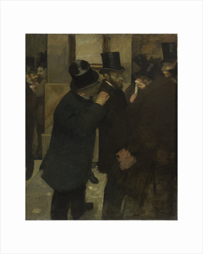 Portraits at the Stock Exchange, 1878-1879 by Edgar Degas