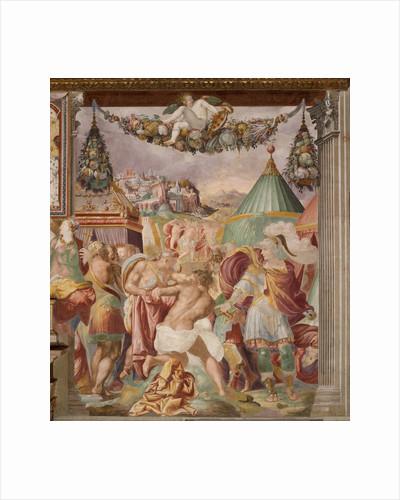 The punishment of the treacherous schoolmaster of Falerii, c. 1544 by Francesco de Rossi