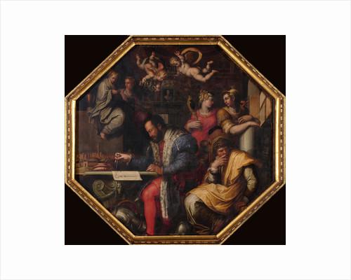 Cosimo studies the taking of Siena, 1563-1565 by Giorgio Vasari