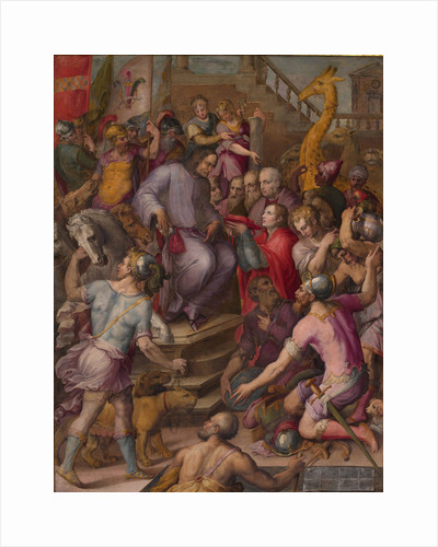 Lorenzo the Magnificent receives the tribute of the ambassadors, 1556-1558 by Giorgio Vasari