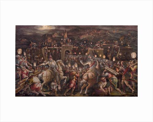 The storming of the fortress near Porta Camollia in Siena, 1570 by Giorgio Vasari