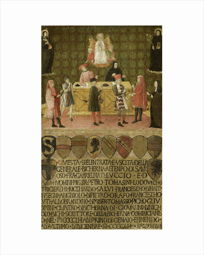 The office of the tax collector (Biccherna) of Siena, 1451-1452 by Anonymous