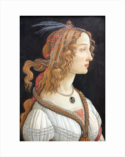 Idealized Portrait of a Lady (Portrait of Simonetta Vespucci), c. 1480 by Sandro Botticelli