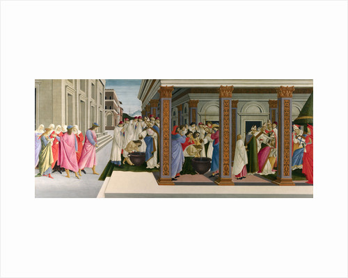 Three Miracles of Saint Zenobius, c. 1500 by Sandro Botticelli