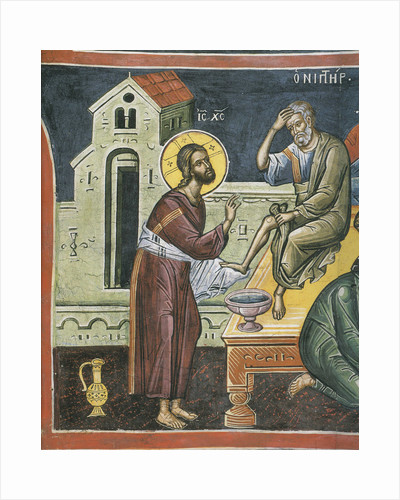 Christ Washing the Feet of the Apostles, 16th century by Byzantine Master