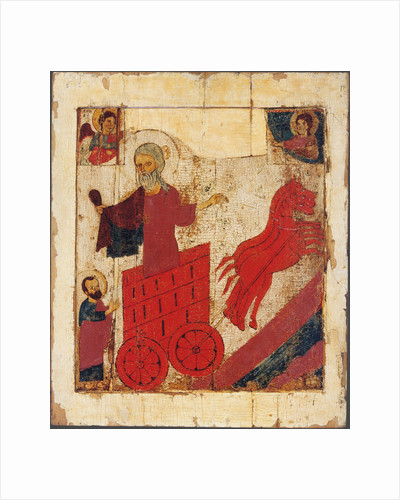 The Prophet Elijah and the Fiery Chariot, 13th century by Russian icon