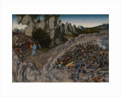 The Crossing of the Red Sea (Pharaohs Hosts engulfed in the Red Sea), 1530 by Lucas Cranach the Elder