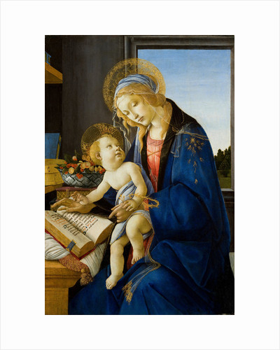 Madonna of the Book (Madonna del Libro), 1480 by Sandro Botticelli