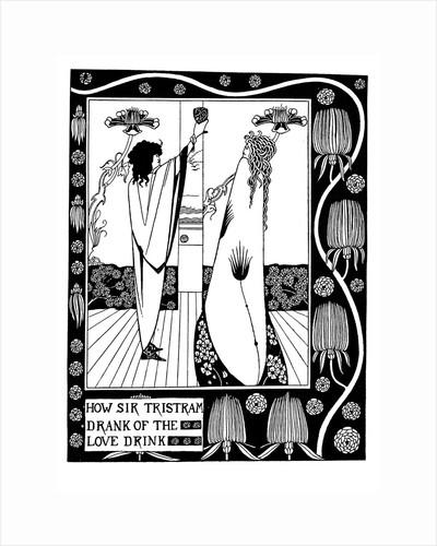 Illustration to the book Le Morte dArthur by Sir Thomas Malory by Aubrey Beardsley