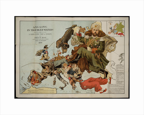 Angling in Troubled Waters. A Serio-Comic Map of Europe by Fred W. Rose