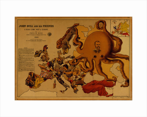 John Bull and his Friends. A Serio-Comic Map of Europe by Fred W. Rose