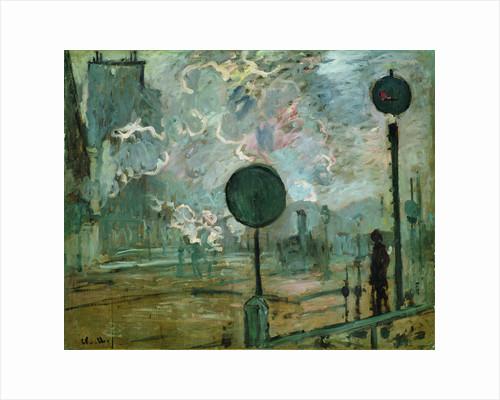 The Gare Saint Lazare (Le Signal) by Claude Monet