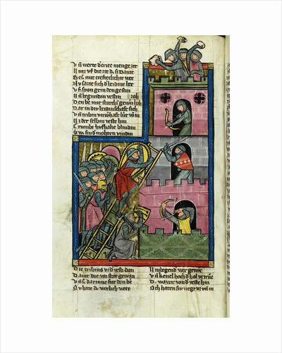Taking a Castle in Jerusalem by Master of the Chronicle of the World