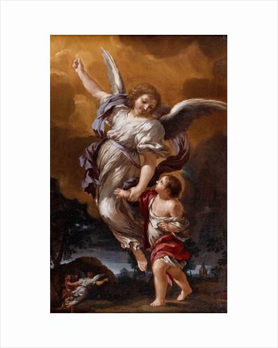 The Guardian Angel (after Pietro da Cortona) by Ciro Ferri