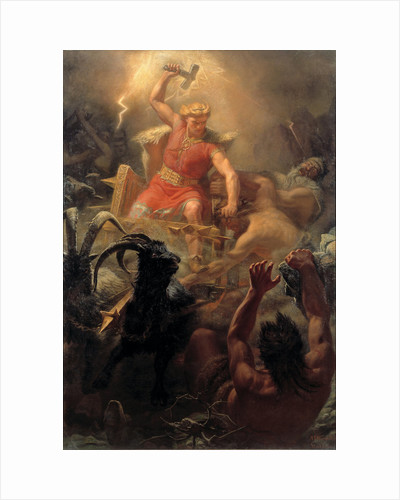 Thors Fight with the Giants by Marten Eskil Winge