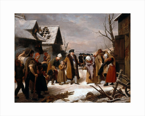Louis XVI Distributing Alms to the Poor of Versailles during the Winter of 1788 by Louis Hersent