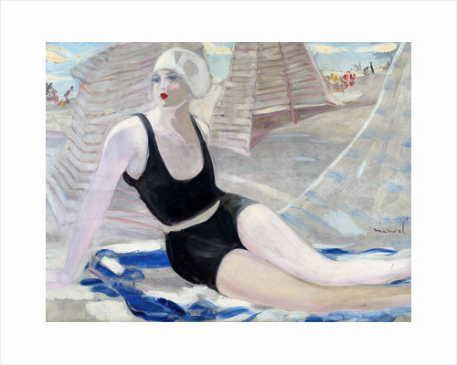 Bather in black swimming suit by Jacqueline Marval