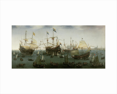 The Return to Amsterdam of the Second Expedition to the East Indies, 19 July 1599 by Hendrick Cornelisz. Vroom