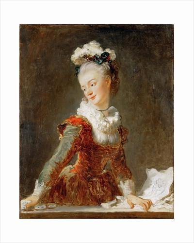 Portrait of the ballerina Marie-Madeleine Guimard by Jean Honoré Fragonard