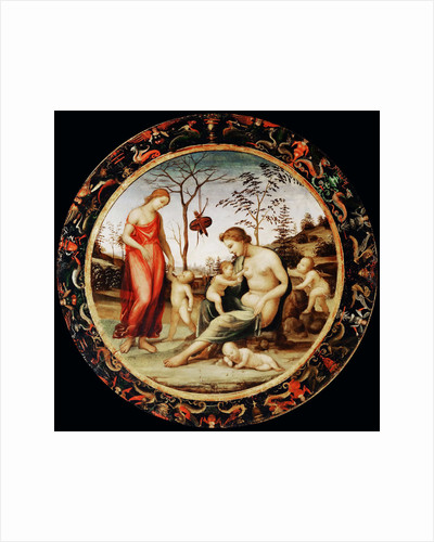 Allegory of Love (Venus terrestre with Eros and Venus celeste with Anteros and two cupids) by Sodoma